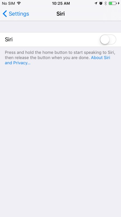 Hey Siri in iOS 105