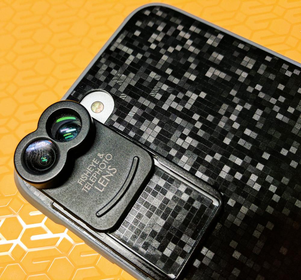 kamerar zoom lens kit fisheye & telephoto lens