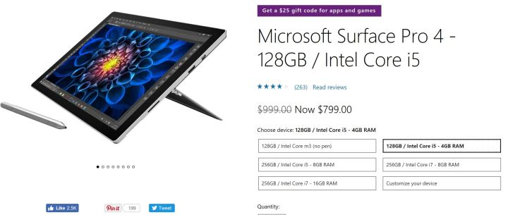 Surface Pro 4 at the Microsoft Store.
