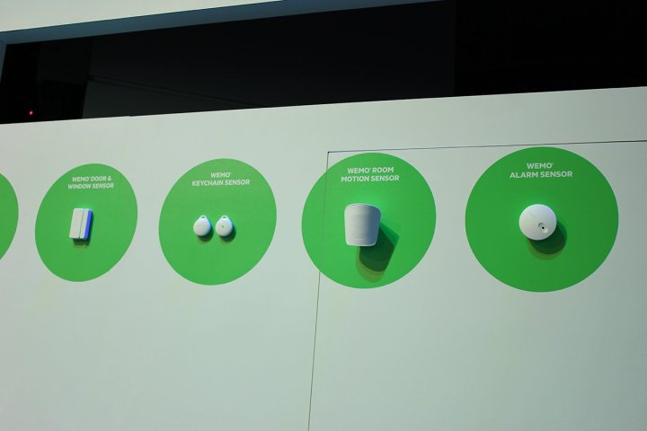 Just some of Belkin's WeMo smart home products.