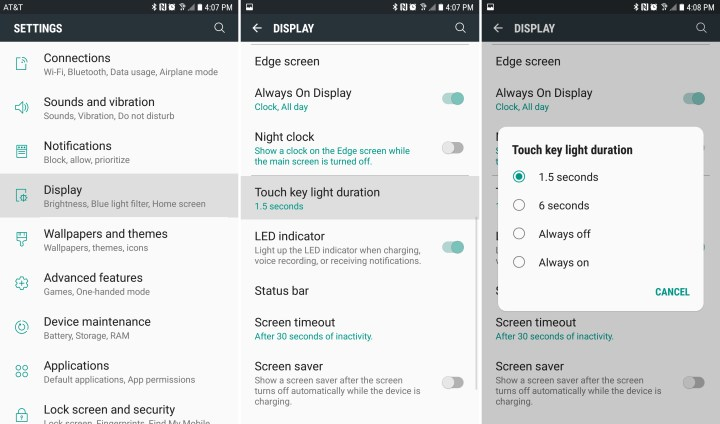 How to Turn Off or Adjust Galaxy S7 Button Lights
