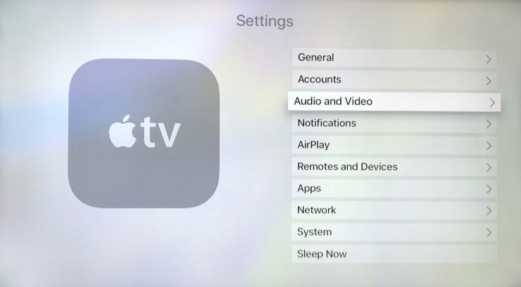 apple tv settings select airpods