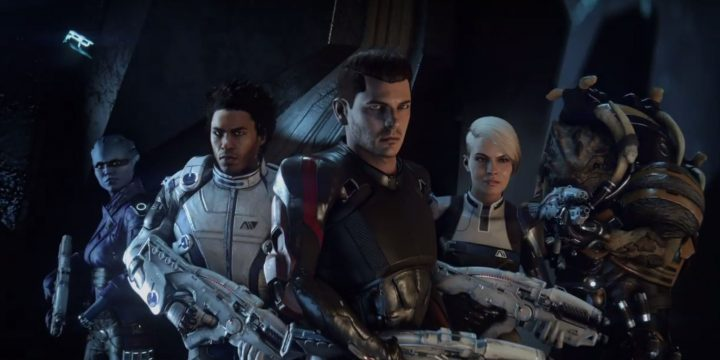 The squad from Mass Effect Andromeda.