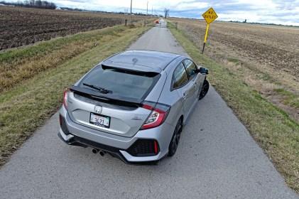2017 Honda Civic Hatchback Sport Touring Review - back high