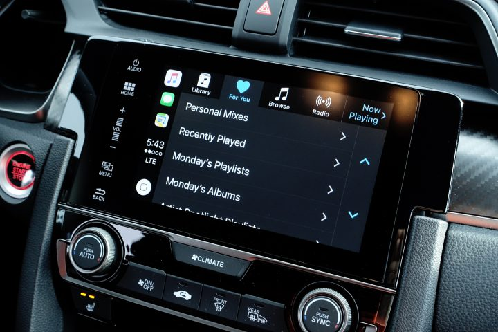 The Infotainment system is easy to use and supports Apple CarPlay & Android Auto.