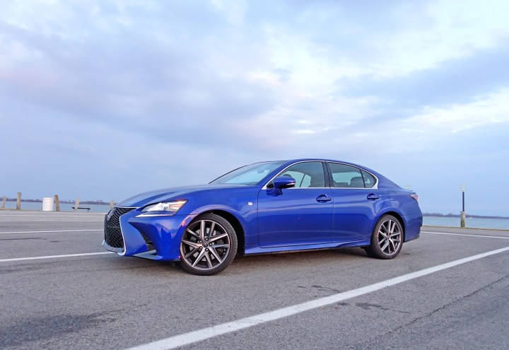 The 2017 Lexus GS 350 F Sport in Ultrasonic Blue Mica.