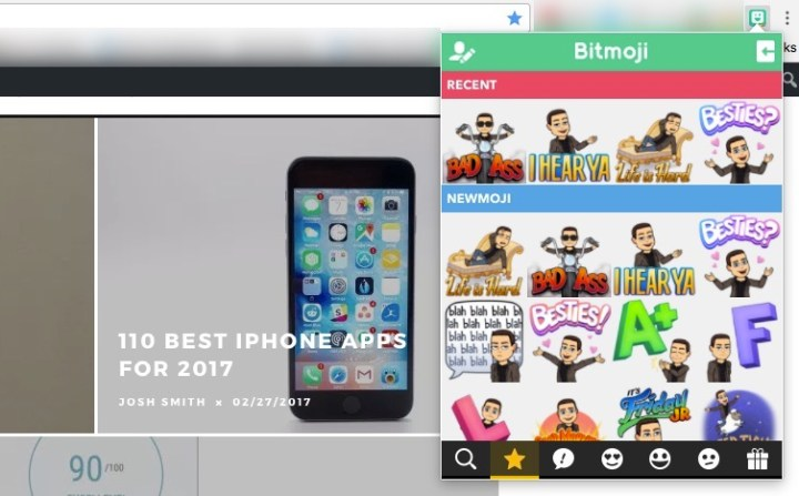 Click the Bitmoji icon in Chrome and then copy any Bitmoji you want to use