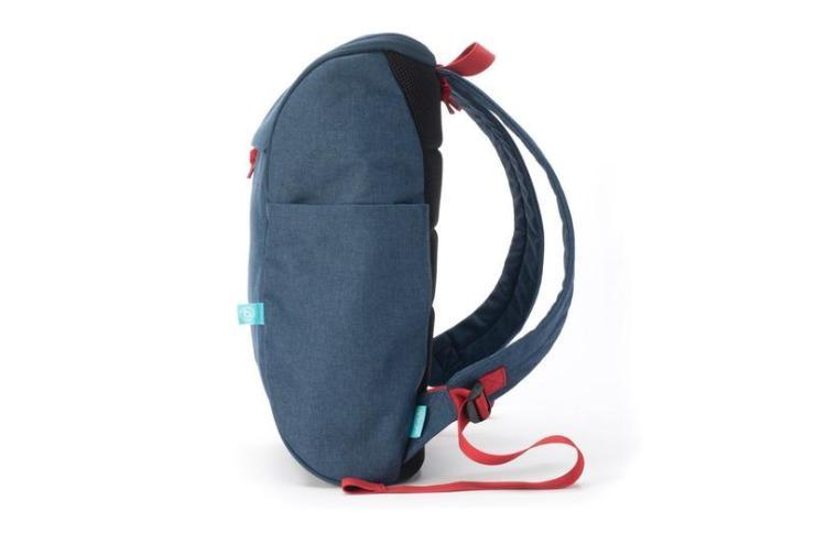 book daypack navy-red backpack side