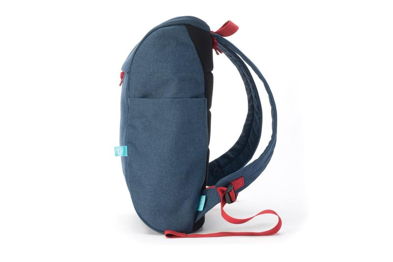 book daypack navy-red backpack side