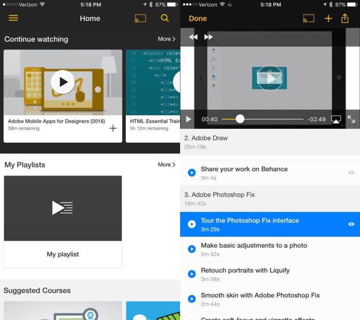 lynda- tech learning apps