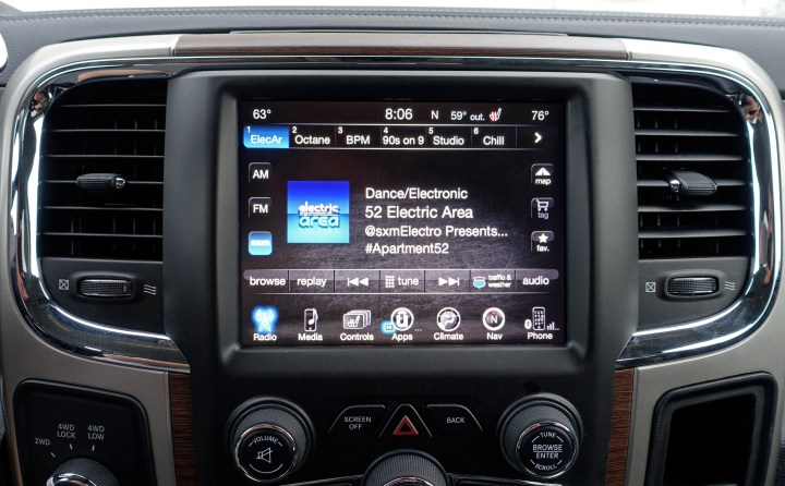 The Uconnect system is capable, but lacks Android Auto and CarPlay.