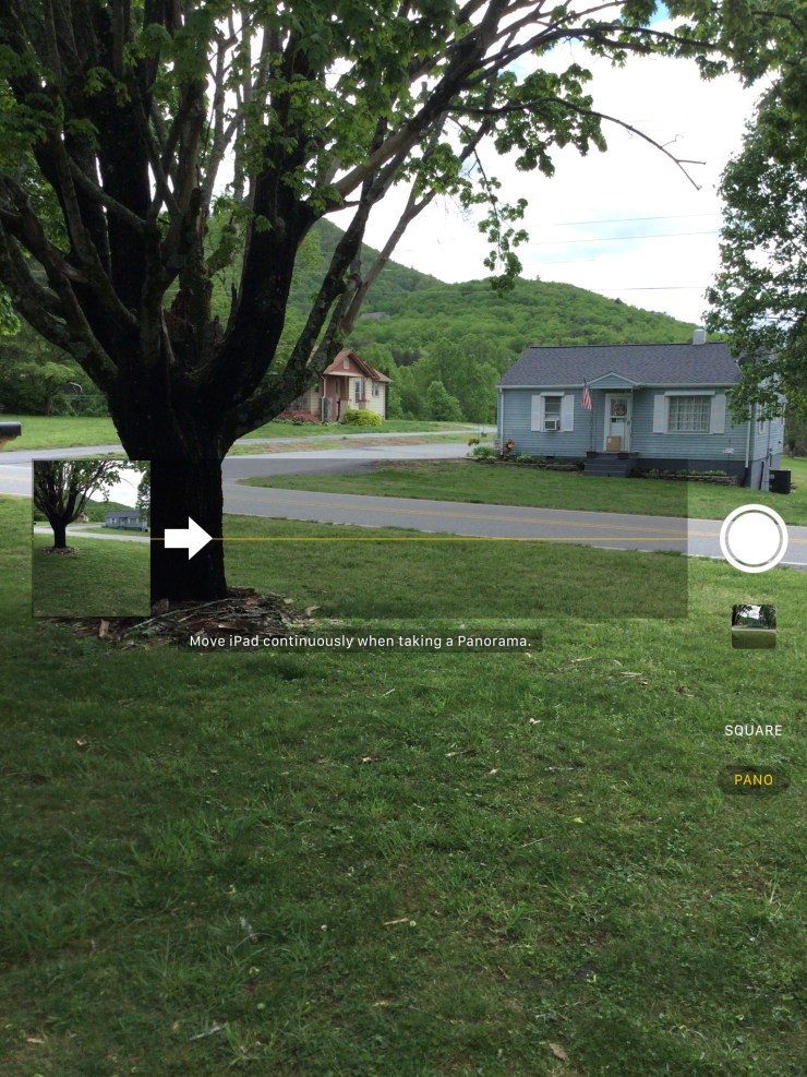 2017 ipad camera app pano setting