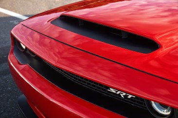 The functional Air-Grabber™ hood scoop on the 2018 Dodge Challenger SRT Demon is the largest of any production car (measures 45.2 square inches).