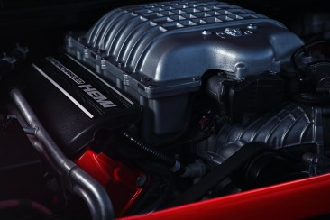 The 2018 Dodge Challenger SRT Demon's 6.2-liter supercharged HEMI® Demon V-8 engine.