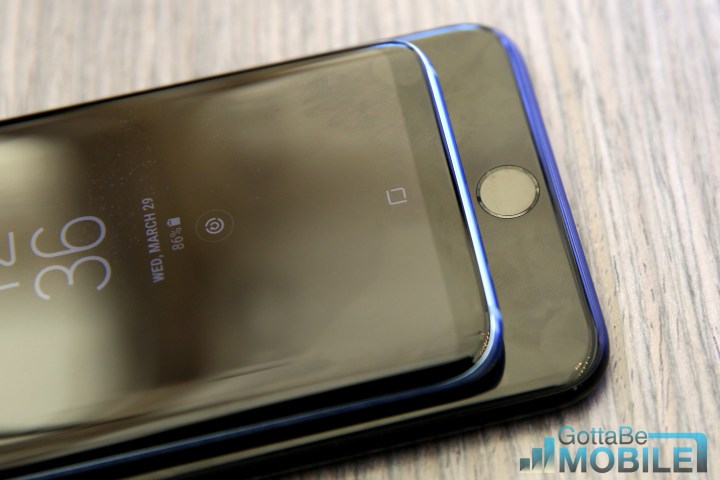 iPhone 7 fingerprint scanner compared to Galaxy S8