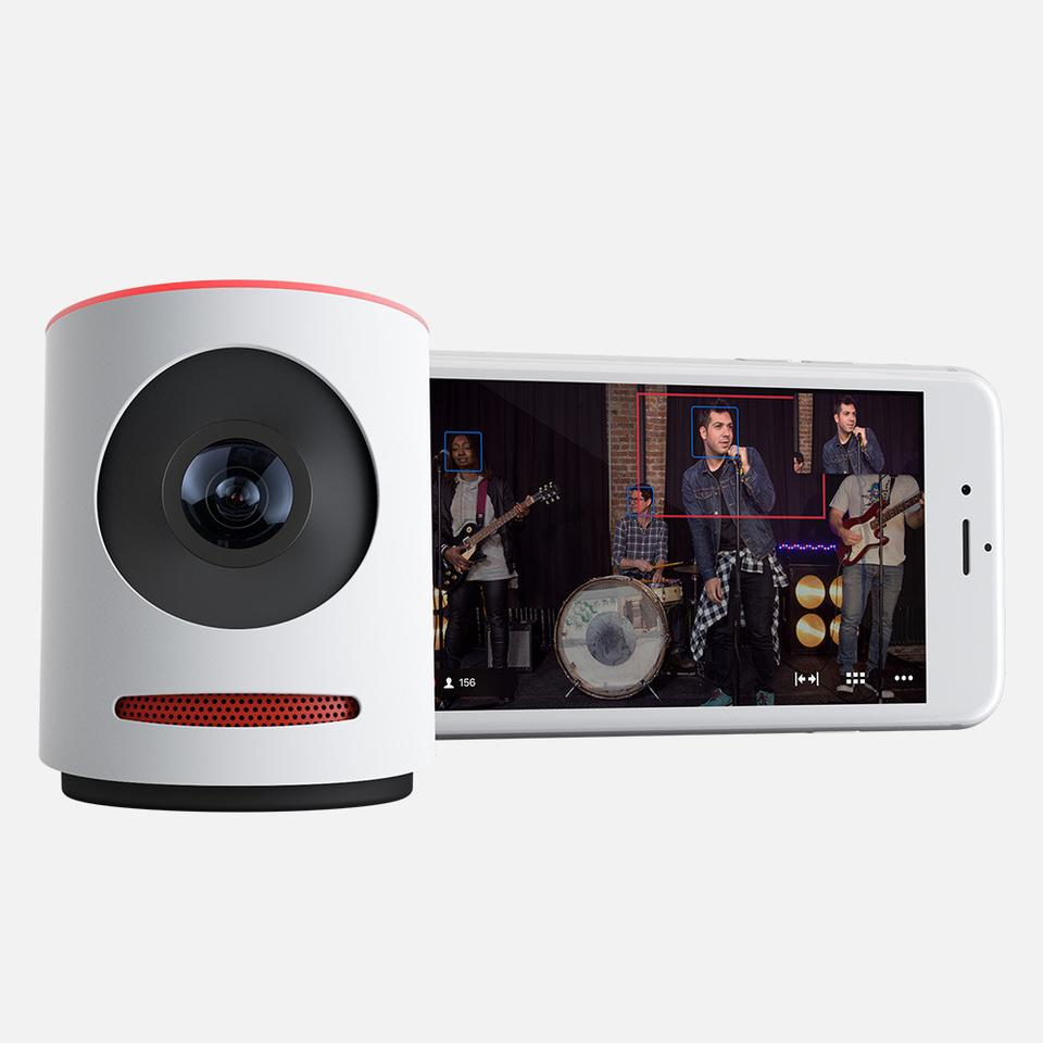 mevo live streaming camera with iphone