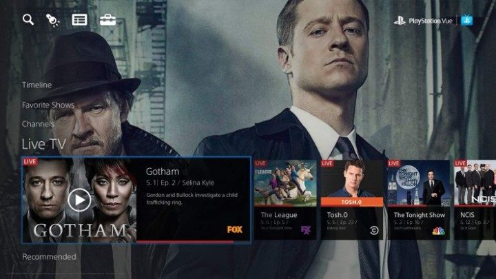 Watch Live TV with PlayStation Vue