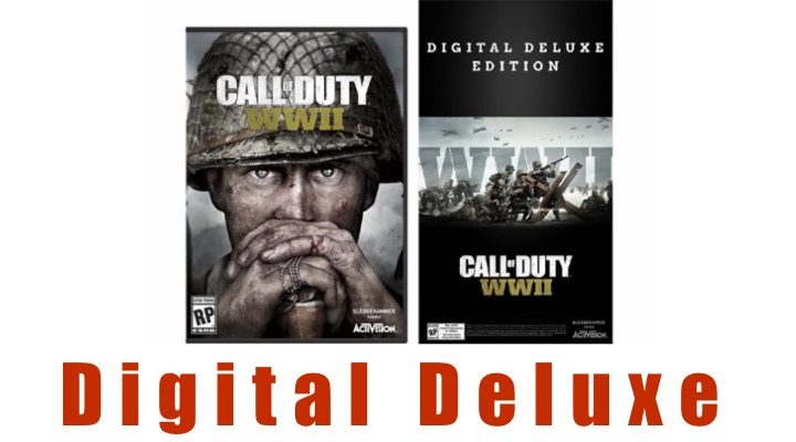 What you get with the Call of Duty: WWII Digital Deluxe edition.