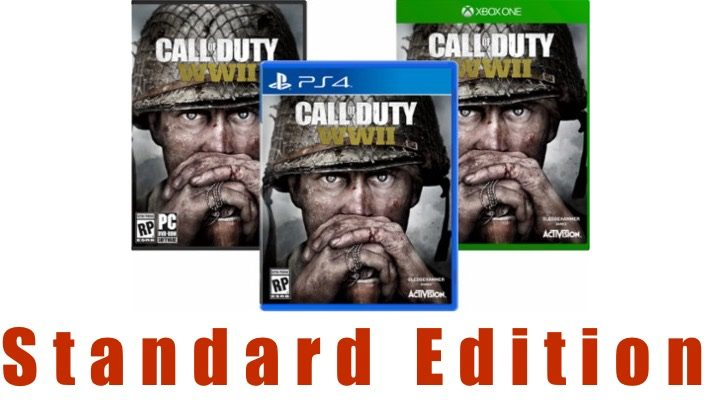 What you get with the Call of Duty: WWII standard edition.