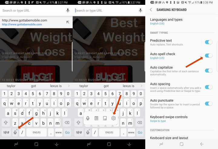 How to improve Galaxy S8 autocorrect.