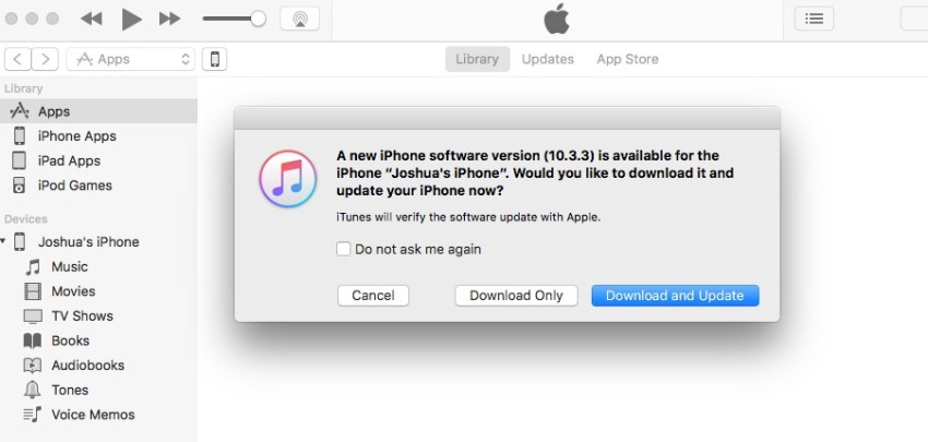 You can use iTunes to install iOS 10.3.3 as well.