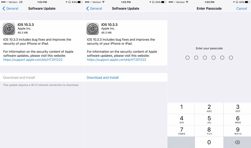 How to install the iOS 10.3.3 update on iPhone and iPad.