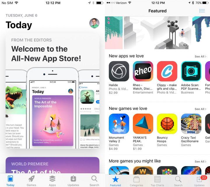 New App Store Design in iOS 11