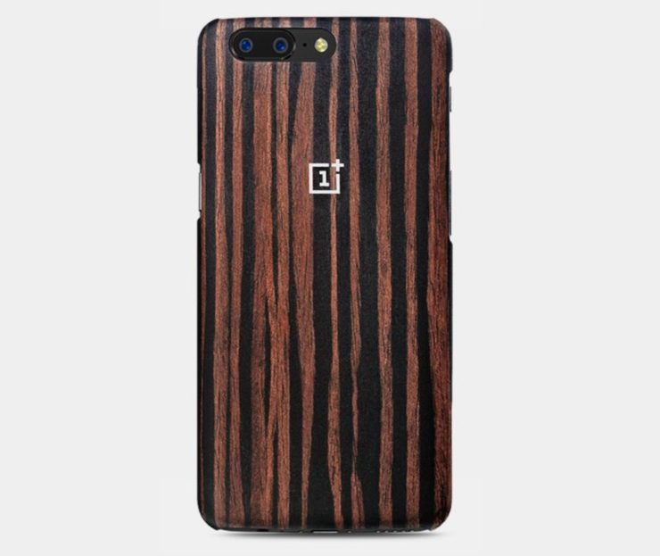 OnePlus 5 Ebony Wood Case