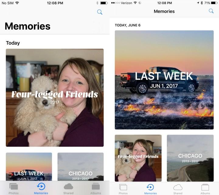 iOS 11 Memories Upgrades