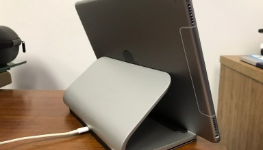 logitech base ipad pro charging stand back