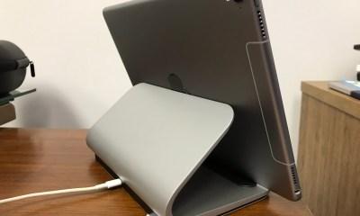 logitech base ipad pro charging stand back