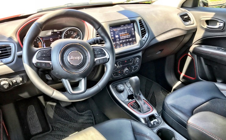 We like the stylish interior with accent stitching and well laid out dash.