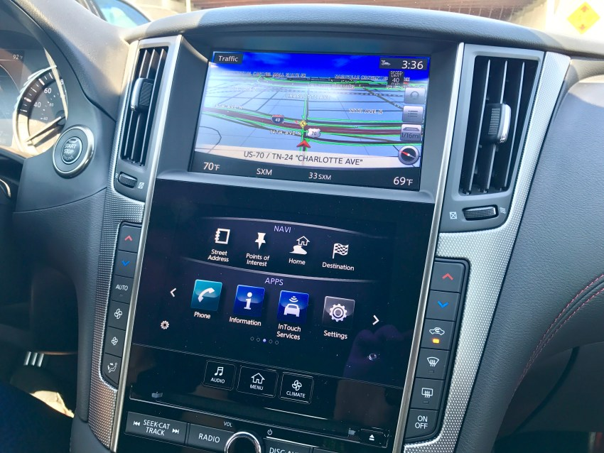 2018 infiniti red sport. unique 2018 the dual screen system in the infiniti q50 combines a large display  with smaller for 2018 infiniti red sport