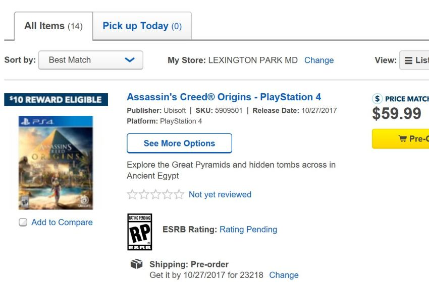 Pre-Order Now for Solid Assassin's Creed Origins Deals