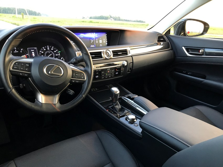 There is a spacious interior with an upscale look.