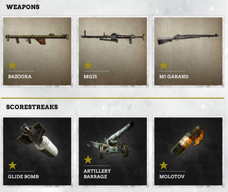 Experience theCall of Duty: WWII Weapons