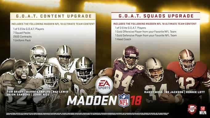 Which Madden 18 G.O.A.T. player to pick.