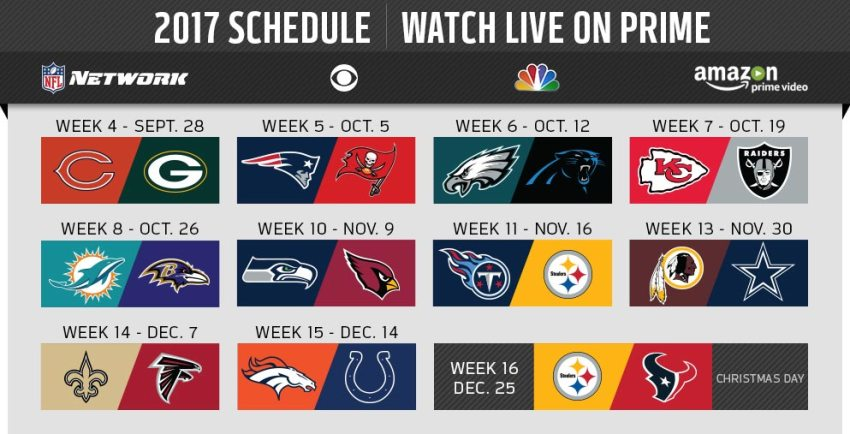 Image Result For Thursday Night Football Tv Schedule
