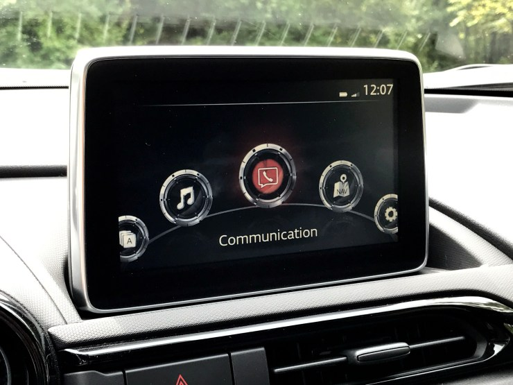 A competent, but useful infotainment system comes with the promise of future support for CarPlay and Android Auto.