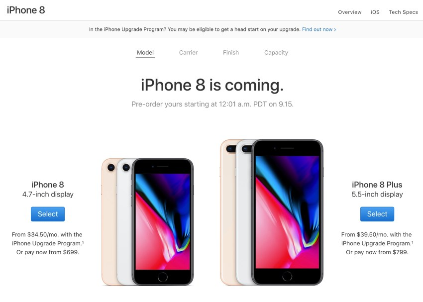 How to pre-order the iPhone 8 and iPhone 8 Plus.