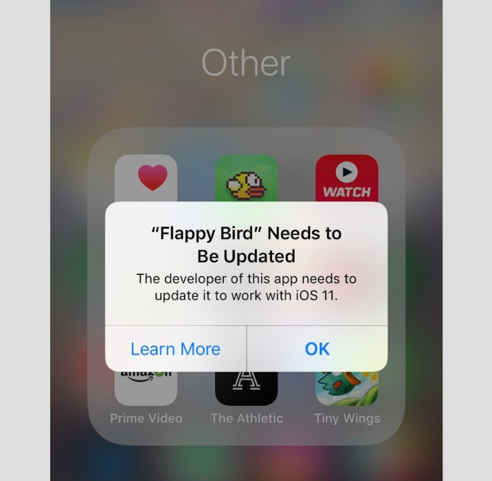 PSA: Some Of Your Apps Might Not Work w/ iOS 11