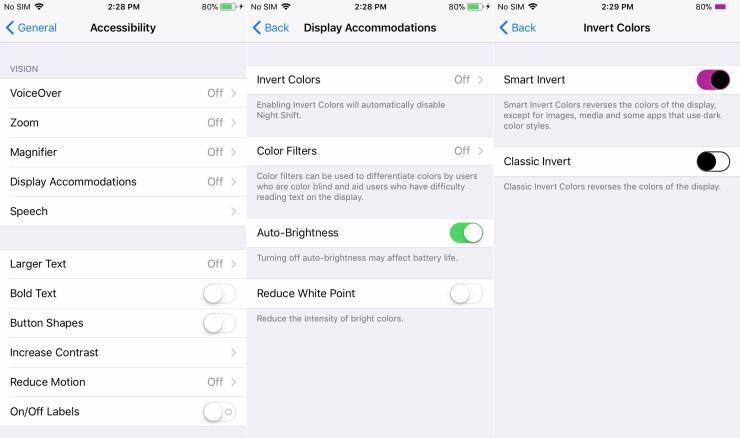 New iOS 11 Dark Mode