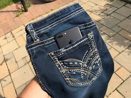 iPhone 7 Plus in pocket