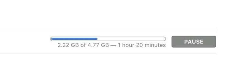 Count on a lengthy macOS High Sierra download time.