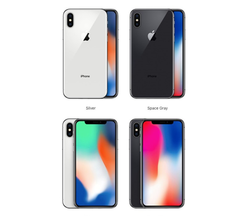 Here are your iPhone X color options.