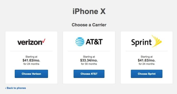 Why are iPhone X prices different?