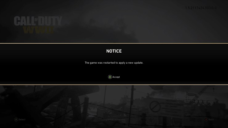 Here's whats new in the Call of Duty: WWII 1.05 update.