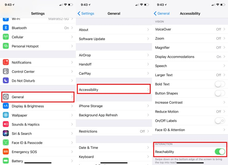 How to turn on iPhone X Reachability.