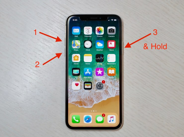 How to hard reset the iPhone X when it freezes.