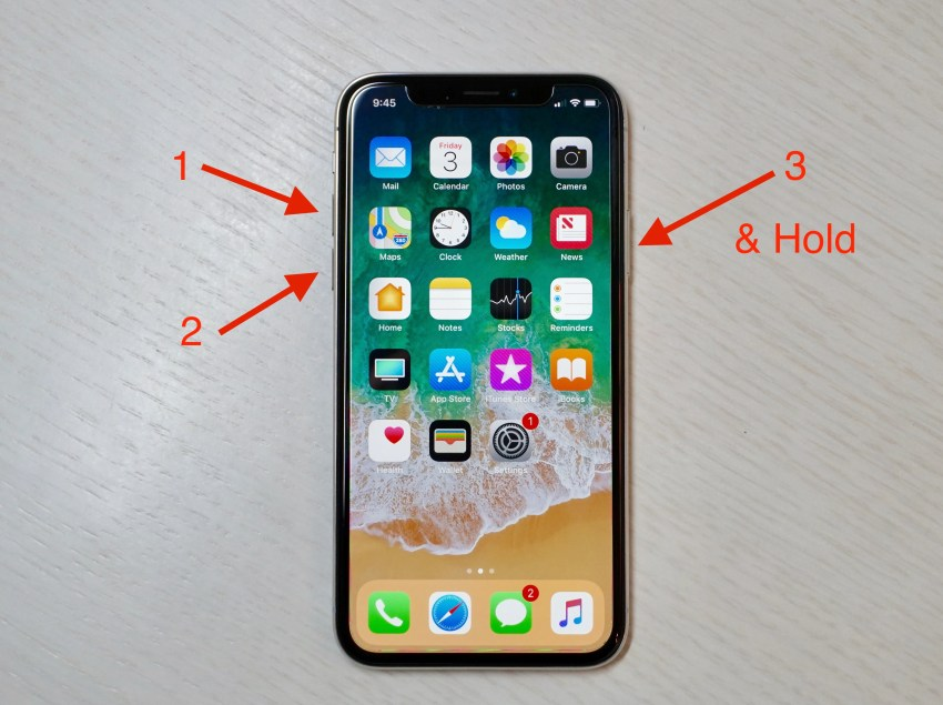 Iphone x hard resett